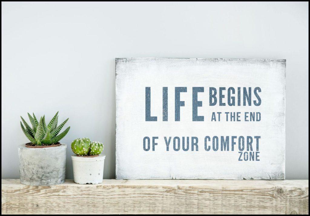 Komfortzone verlassen_Schild