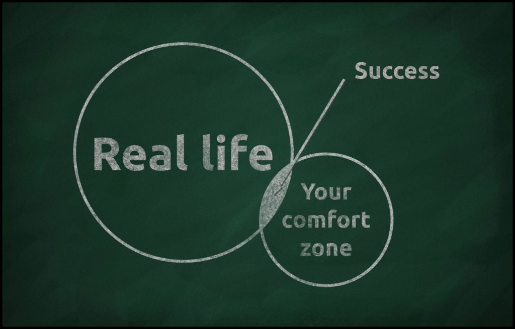Komfortzone verlassen_Tafel